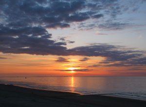 Belgien Middelkerke Sonnenuntergang